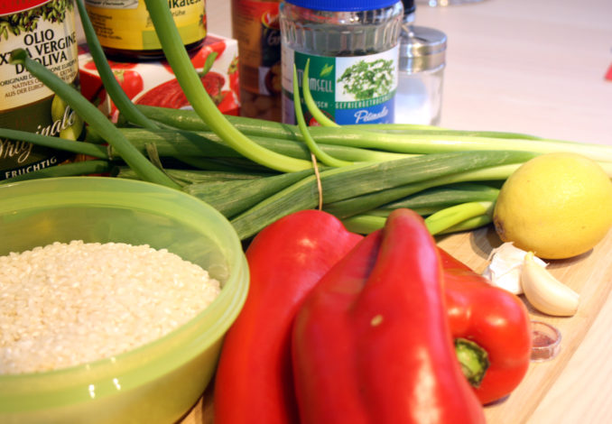 Kichererbsen-Paella