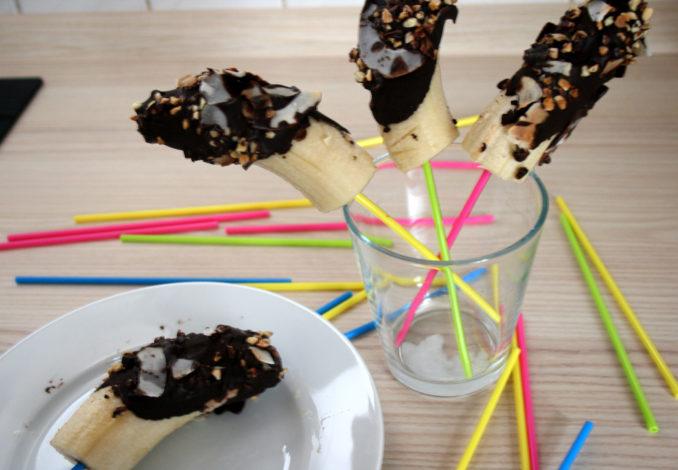 Bananen-Eis-Pops