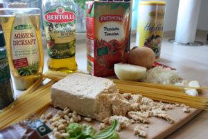 Spaghetti mit Tofu-Bolognese