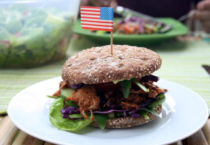 Vegane Pulled-Pork-Burger