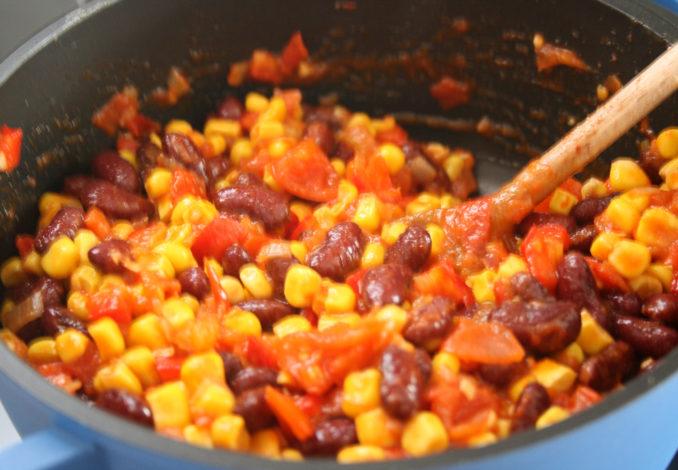 Polenta con Chili sin Carne