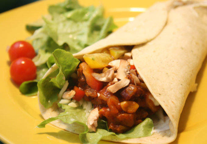 Feurige Tortilla-Wraps