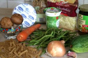 Pasta-Auflauf mit grünen Bohnen