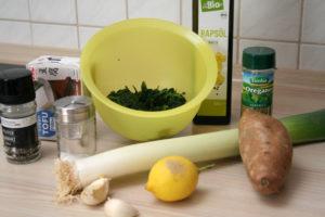 Spinat-Süßkartoffel-Potpourri