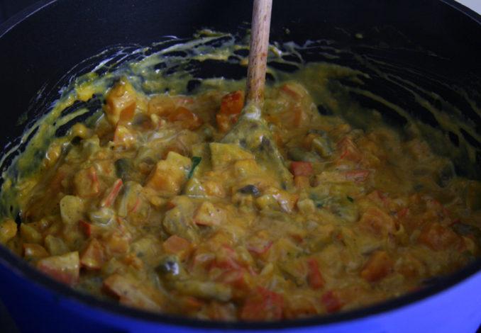 Kürbis-Spinat-Lasagne