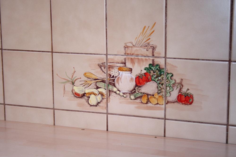 Klebewohl Neuer FliesenLook Für Meine Küche Schürzenträgerin - Fliesen mit motiv für küche