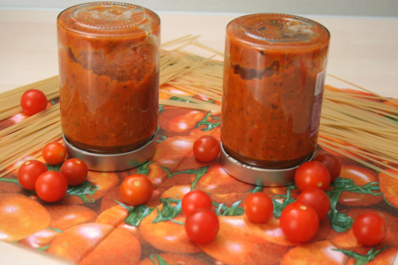 Einkochen Tomatensoße auf Vorrat