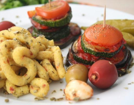 Gemüsetürmchen