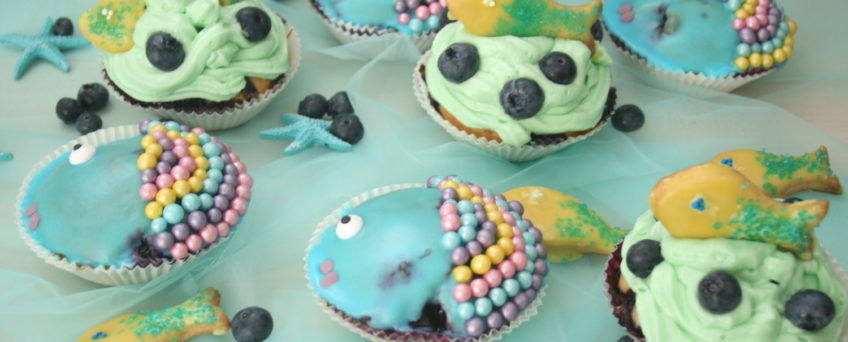 Regenbogenfisch-Muffins