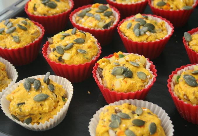 herzhafte Kürbis-Muffins