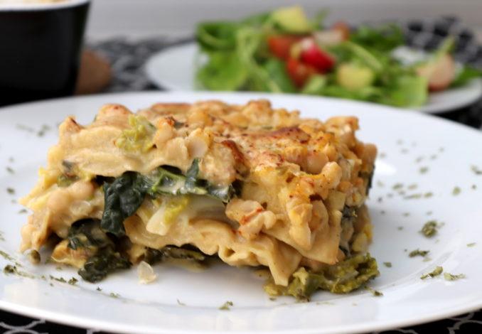 Wirsing-Bohnen-Lasagne