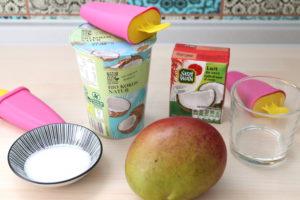 veganes Kokos-Mango-Eis