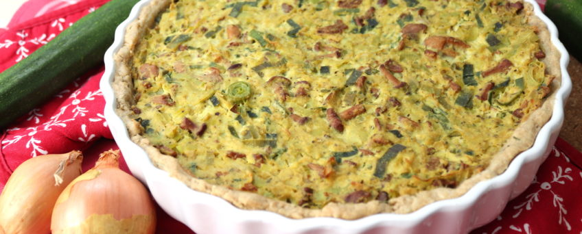 vegane Pfifferling-Lauch-Quiche