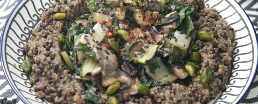 Quinoa-Linsen-Bowl