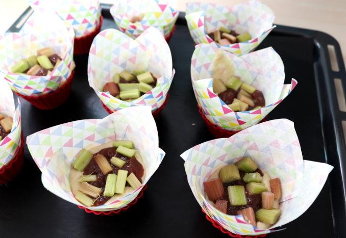 vegane Rhabarbermuffins