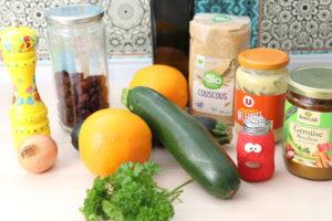 gefüllte Zucchini mit Couscous