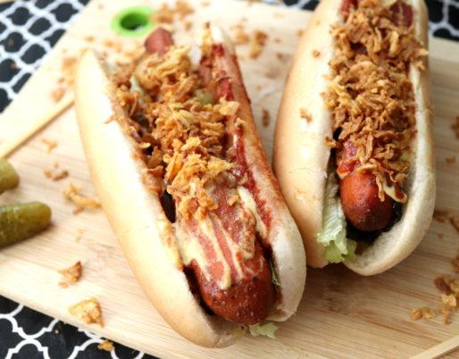 Möhren-Hotdogs